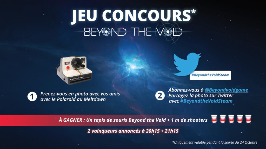 Jeu concours Beyond the Void sur Twitter